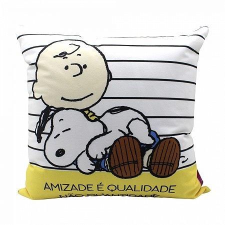 Almofada Snoopy 40X40 cm - Charlie e Snoopy