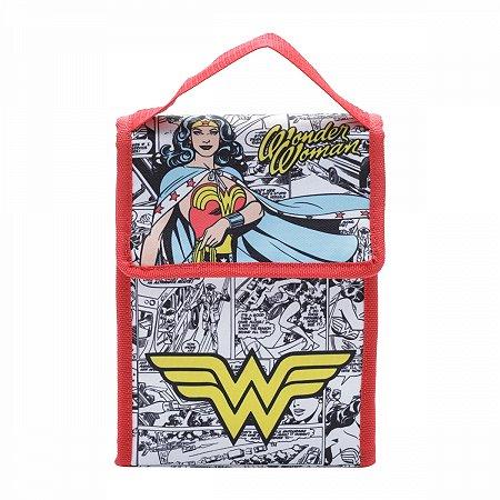 Lancheira Poliester Mulher Maravilha DC Comics 19X12X26CM