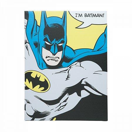 Quadro Tela I am Batman 30X1,5X40cm