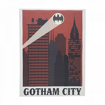 Quadro Tela Batman Gothan City 30X1,5X40cm