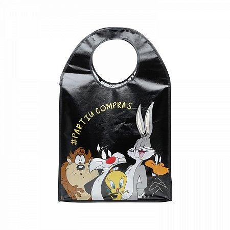 Sacola PP Oval Looney Tunes 40x15x64 cm