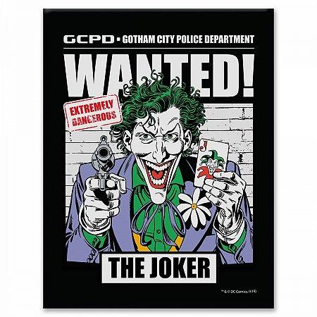Placa Parede Metal Coringa Procurado DC Comics