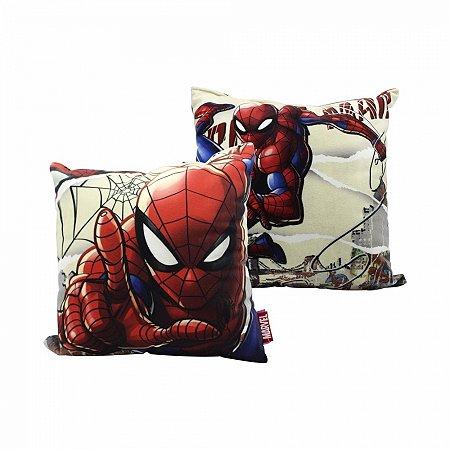 Almofada Homem Aranha Marvel 25x25cm Fibra Veludo
