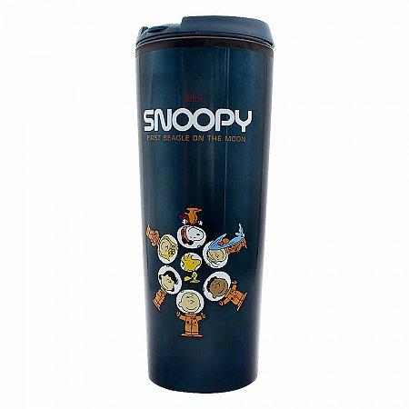 Copo Viagem Snoopy Espaço com tampa 450ml