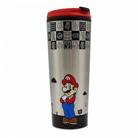 Copo Viagem Super Mario com tampa 450ml