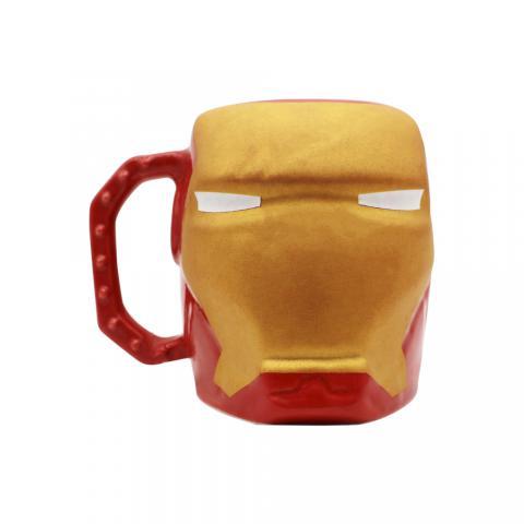 Caneca formato 3D Homem de Ferro Marvel 400ml