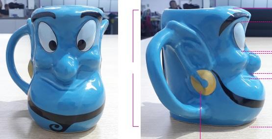 Caneca formato 3D Aladdin Gênio da Lâmpada 450 ml