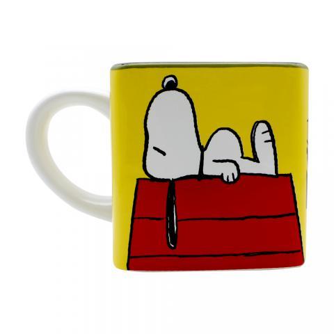 Caneca Cubo Turma Snoopy 300ml