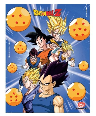 Quadro metal Dragon Ball Z Grupo Esferas 26X20CM
