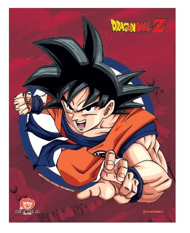 Quadro metal Dragon Ball Z Goku Rage 26X20CM