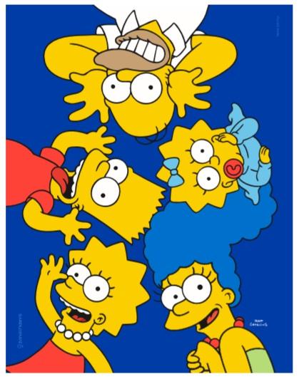 Quadro metal Simpsons Careta 26X20CM