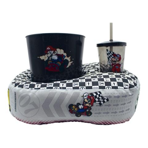 Kit almofada pipoca fibra individual Mario Kart