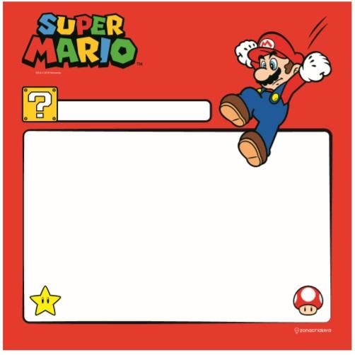 Quadro metal com caneta Super Mario 29X29CM