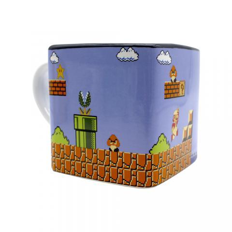 Caneca Cubo Mundo Super Mario 300ml