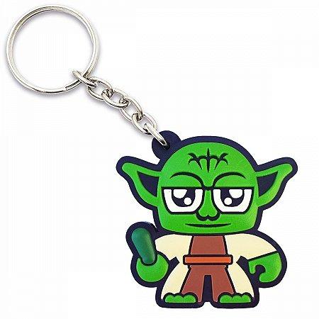 Chaveiro borracha Star Wars Mestre Yoda