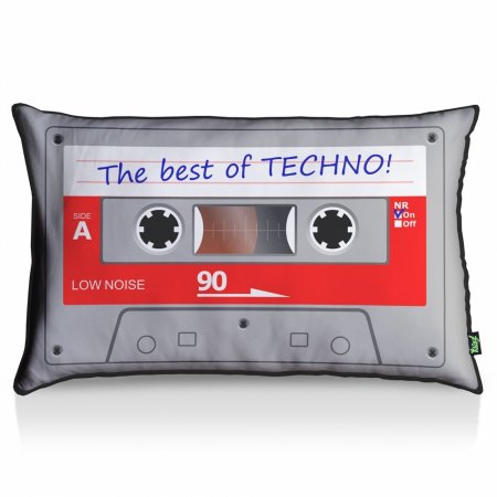 Almofada Fita Cassete Best Of Techno