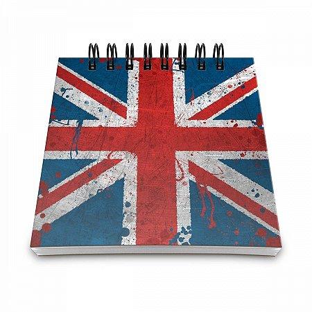 Bloco de Anotações Bandeira Reino Unido