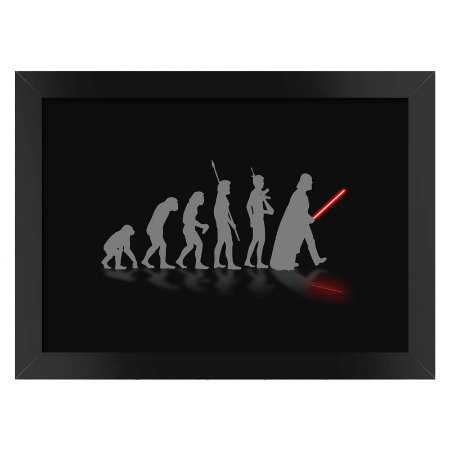 Poster com Moldura  Darth Vader Evolution Preto