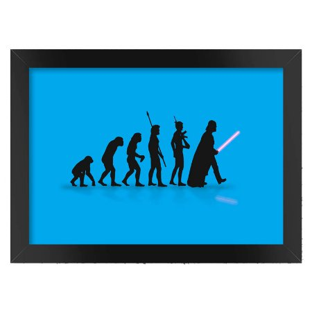 Poster com Moldura Darth Vader Evolution Azul