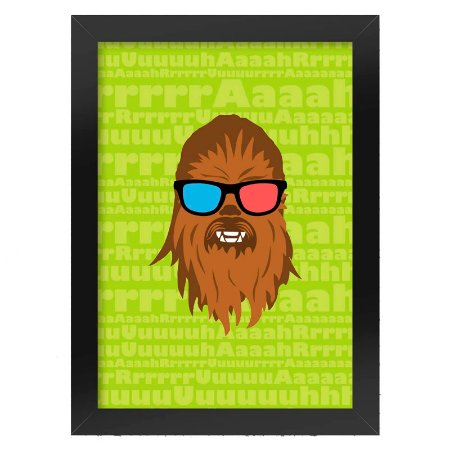 Poster com Moldura Geek Side Chewbacca