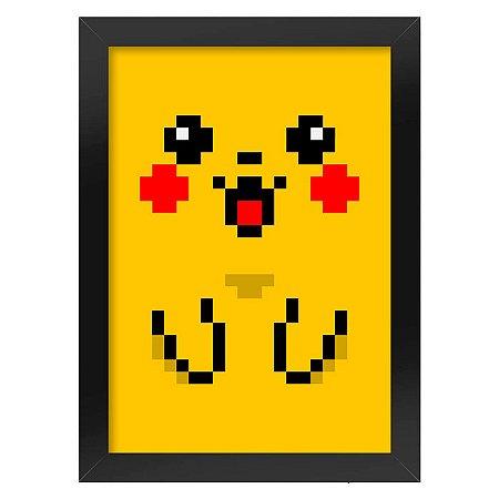 Poster com Moldura Pixelchu Pokemon