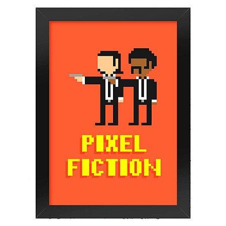 Poster com Moldura Pixel Fiction