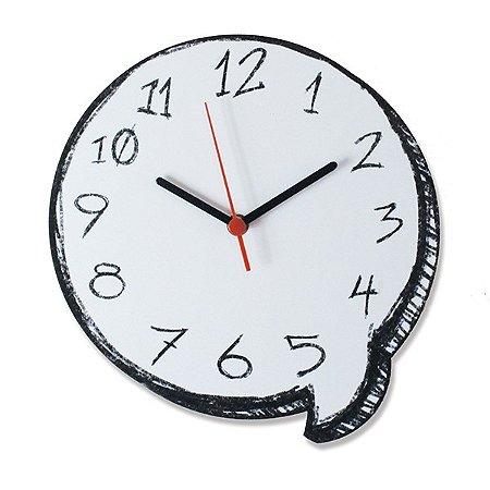 Relógio de Parede Balão de Gibi
