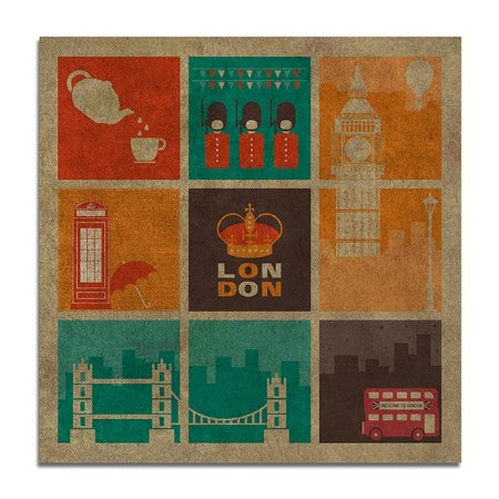 Quadro MDF Icones de Londres