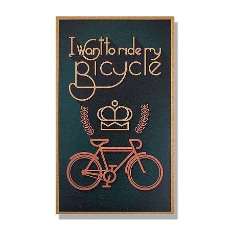 Quadro MDF 50x30 Bicycle