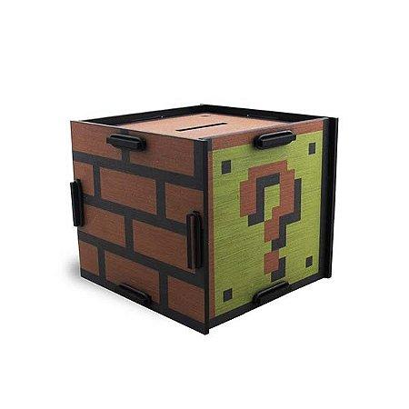 Cofre bloco Interrogação Mario Bros