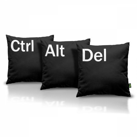 Kit Almofadas Ctrl + Alt + Del - preta