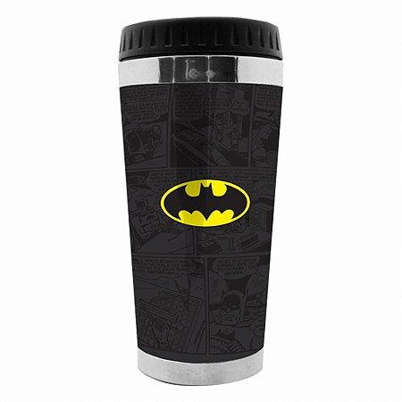 Copo térmico plástico DC Batman logo preto 5 X 8 X 17,5 cm