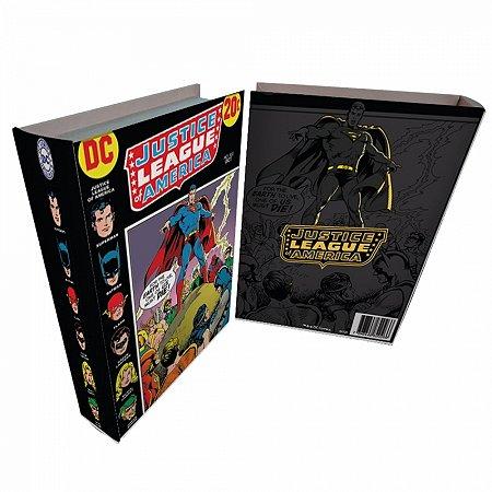 Caixa livro madeira DC League colorido 25 X 17 X 4 CM