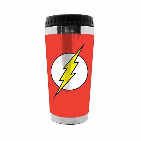 Copo térmico plástico DC The Flash logo fd vermelho