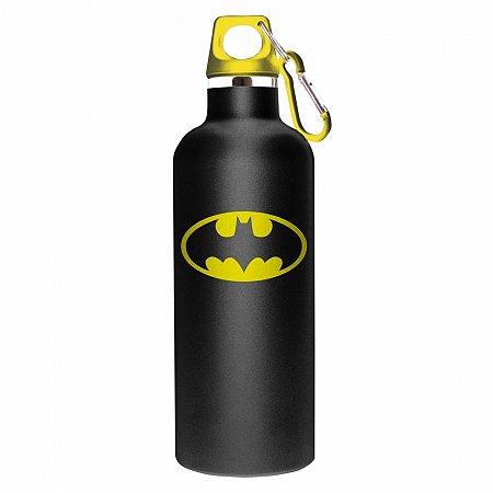 Garrafa aluminio DC Batman logo preta 7 X 26 CM 750ML