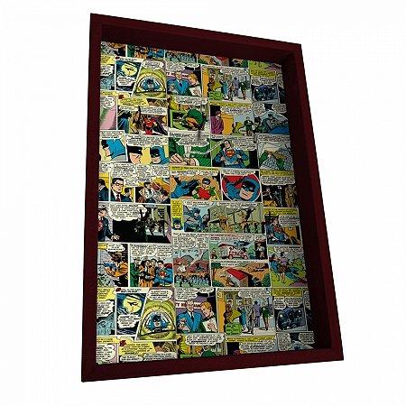 Porta chave madeira dc comics colorido 21 x 31 cm