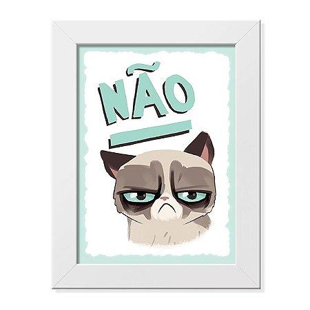 Pôster com Moldura Grumpy Cat