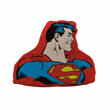 Almofada poliester recorte dc superman half body