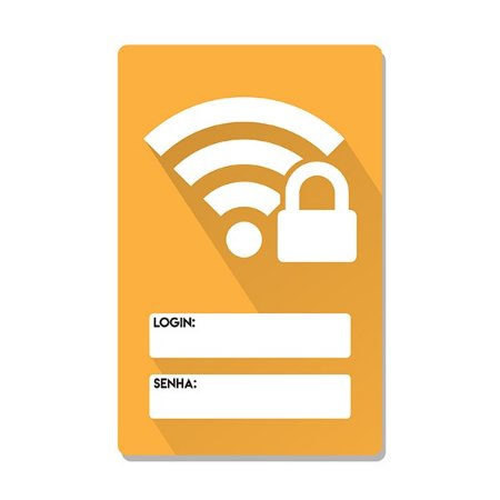 Placa Wifi Sinal Amarelo