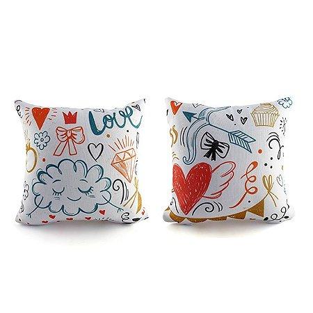 Kit Mini Almofadas Sorria-Love