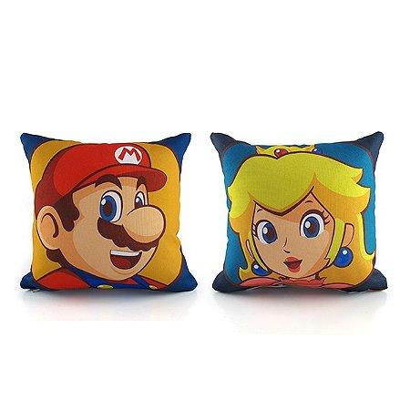 Kit Mini Almofadas Mario and Peach