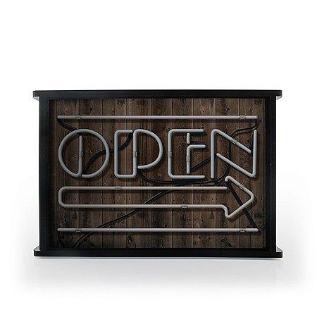 Luminária MDF Open