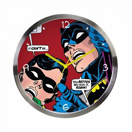 Relogio De Parede Metal Dc Batman E Robin Looking Up