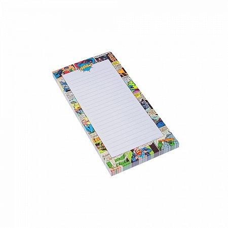 Lista compras magnetico quadrinhos dc colorido 10 x 20 x 0,9