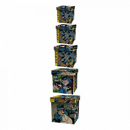 Set caixa organizadora 5 pcs madeira dc scenes colorido