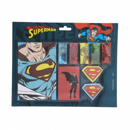 Set bloco de notas com adesivo dco all kinds of superman 21