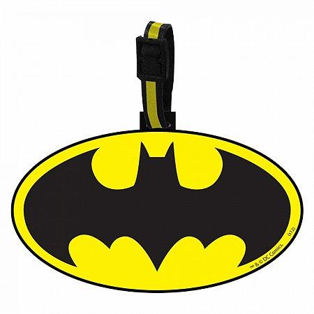 Etiqueta p mala batman dc preto amarelo 10 x 13 cm