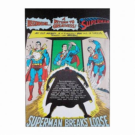 Quadro Tela Superman dc breaks 50x70