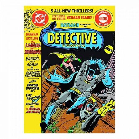 Quadro Tela batman detective colorido 50x70