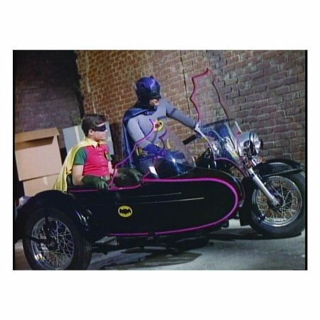 Quadro Tela movie batman e robin side bike 50x70